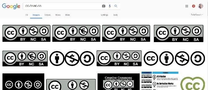 CC-BY-NC-SA google image search