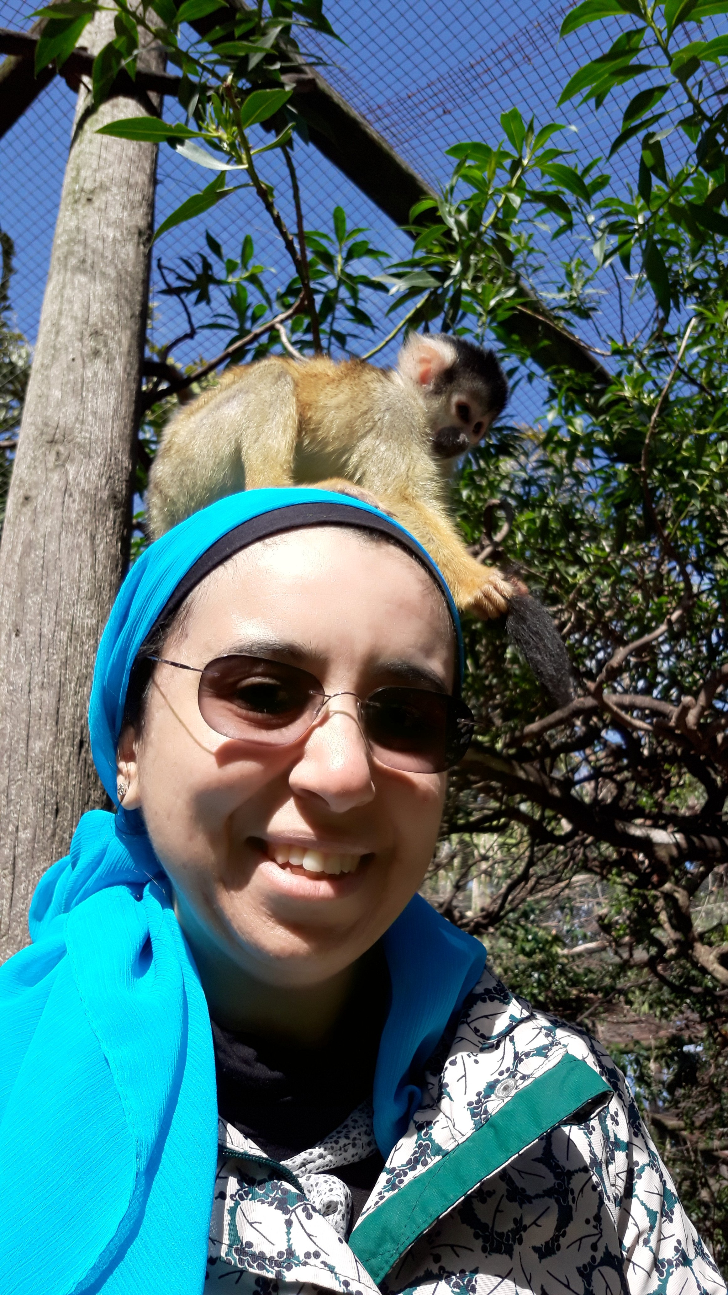 Me with monkey on my head