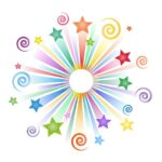 colorful stars and swirls